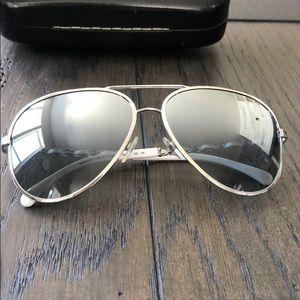 Authentic Chanel sunglasses aviator style